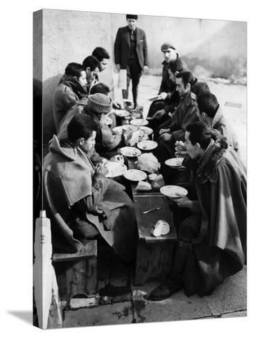 Hungry Soldiers--Stretched Canvas Print
