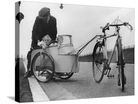 Bicycle Trailer--Stretched Canvas Print