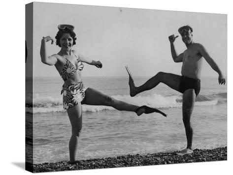 Flip Flop Dance--Stretched Canvas Print