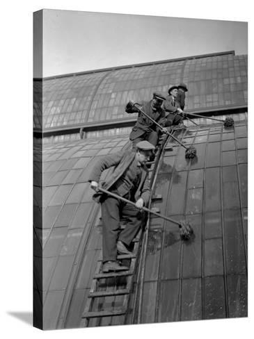 Window Cleaning--Stretched Canvas Print