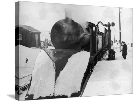Lms Snowplough--Stretched Canvas Print