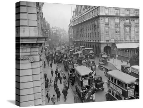 London Traffic--Stretched Canvas Print