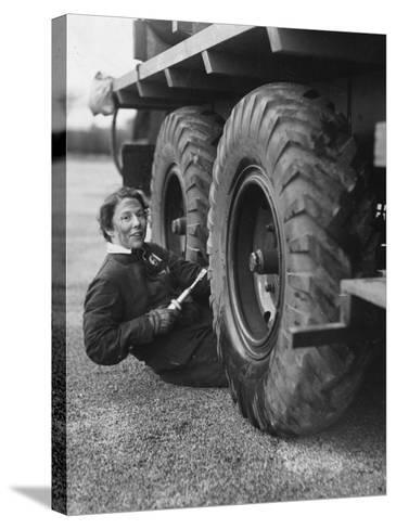 Wheel Greaser--Stretched Canvas Print