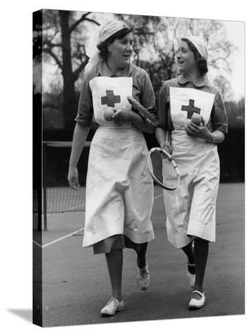 Nurses' Tennis--Stretched Canvas Print