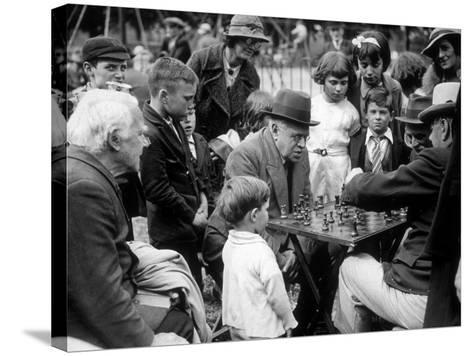 Clapham Chess--Stretched Canvas Print