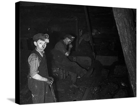 Welsh Miners--Stretched Canvas Print