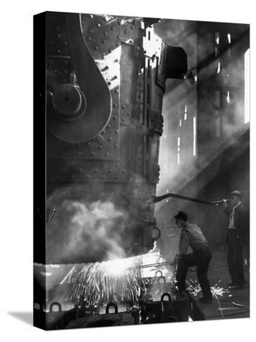 Steelworkers--Stretched Canvas Print