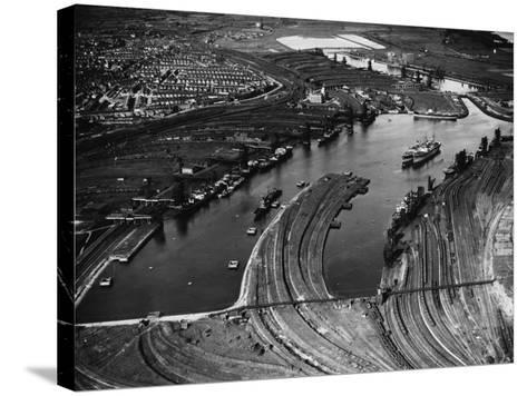 Barry Docks--Stretched Canvas Print