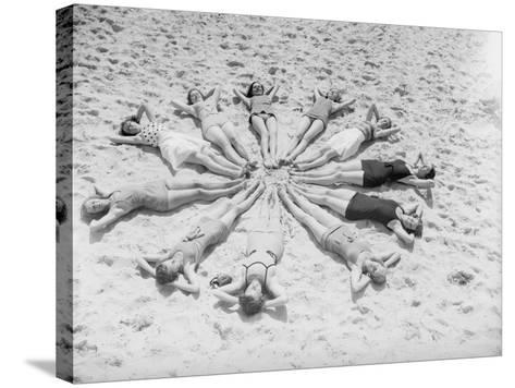 Star Bathers--Stretched Canvas Print