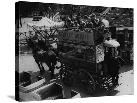 A Horse Bus--Stretched Canvas Print