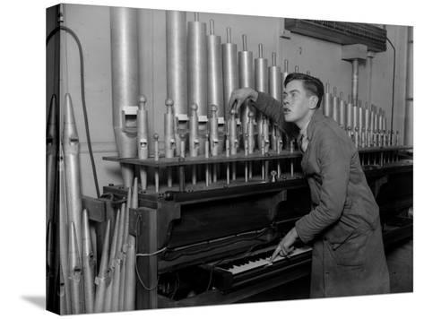 Organ Tuner--Stretched Canvas Print