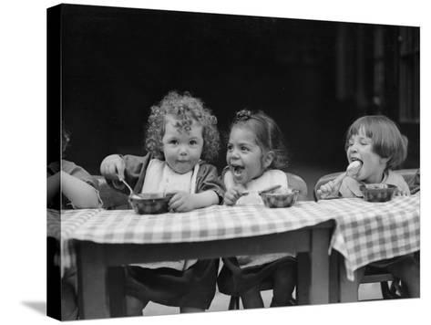 Lunchtime--Stretched Canvas Print