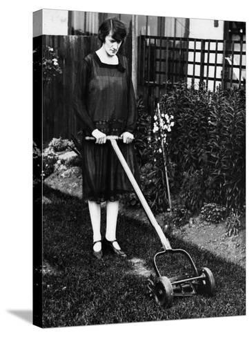 Mower--Stretched Canvas Print