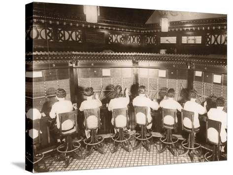 Female Switchboard Operators--Stretched Canvas Print