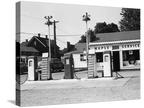Urban Gas Station-George Marks-Stretched Canvas Print
