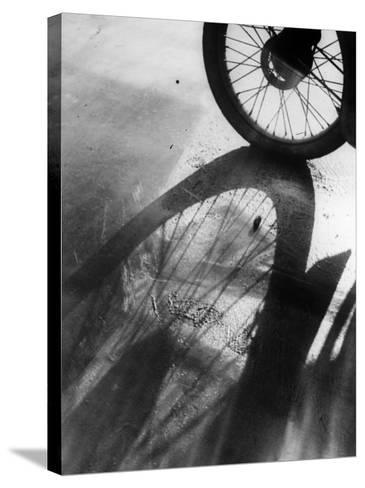 Shadow Wheel--Stretched Canvas Print