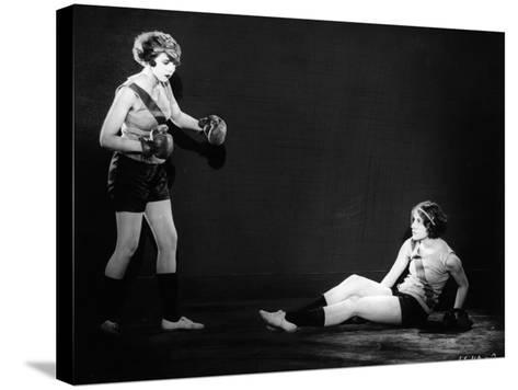 Boxing Women--Stretched Canvas Print