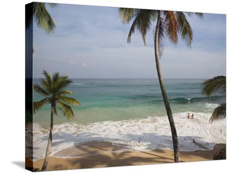 Playa Preciosa Beach, Abreu, North Coast, Dominican Republic-Walter Bibikow-Stretched Canvas Print