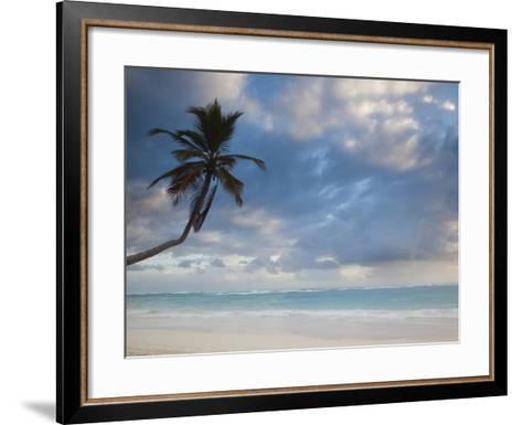 Bavaro Beach Palms at Dawn, Bavaro, Punta Cana Region, Dominican Republic-Walter Bibikow-Framed Art Print