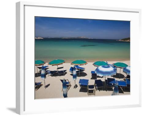 Resort Beach, Baja Sardinia, Sardinia, Italy-Walter Bibikow-Framed Art Print