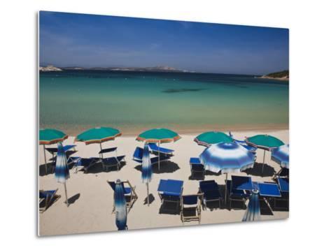 Resort Beach, Baja Sardinia, Sardinia, Italy-Walter Bibikow-Metal Print