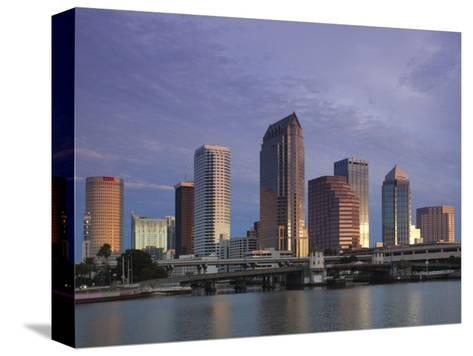 Skyline From Hillsborough Bay, Tampa, Florida, USA-Walter Bibikow-Stretched Canvas Print