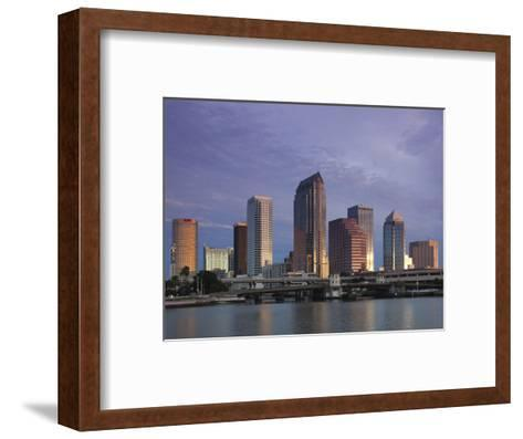 Skyline From Hillsborough Bay, Tampa, Florida, USA-Walter Bibikow-Framed Art Print