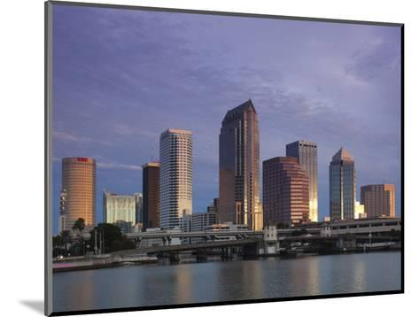 Skyline From Hillsborough Bay, Tampa, Florida, USA-Walter Bibikow-Mounted Photographic Print