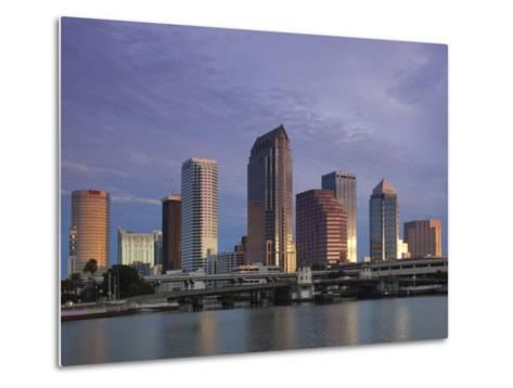Skyline From Hillsborough Bay, Tampa, Florida, USA-Walter Bibikow-Metal Print