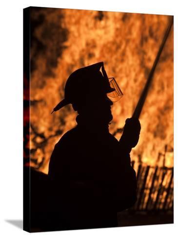 Fourth of July Holiday Bonfire, Rockport, Massachusetts, USA-Walter Bibikow-Stretched Canvas Print