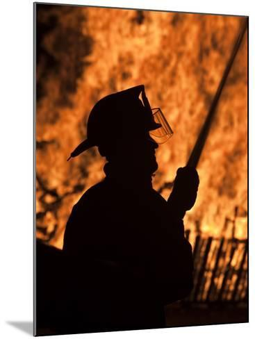 Fourth of July Holiday Bonfire, Rockport, Massachusetts, USA-Walter Bibikow-Mounted Photographic Print