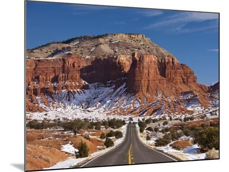 Route 24 in Winter, Capitol Reef National Park, Torrey, Utah, USA-Walter Bibikow-Mounted Photographic Print