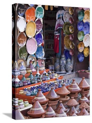 Pottery Shop, Marrakech, Morocco-William Sutton-Stretched Canvas Print