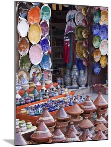 Pottery Shop, Marrakech, Morocco-William Sutton-Mounted Photographic Print