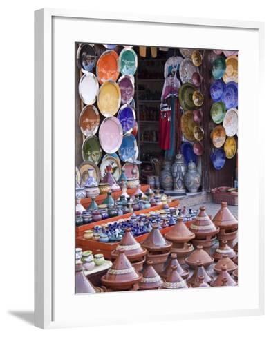 Pottery Shop, Marrakech, Morocco-William Sutton-Framed Art Print