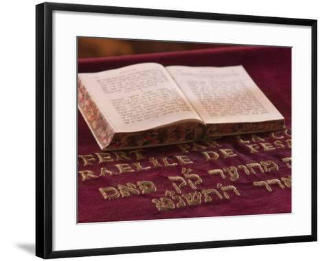 Hebrew Bible in Fes Synagogue, Morocco-William Sutton-Framed Art Print