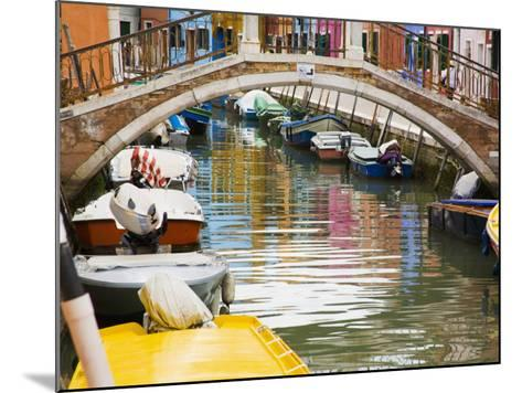 Colorful Burano City Homes Reflecting in the Canal, Italy-Terry Eggers-Mounted Photographic Print