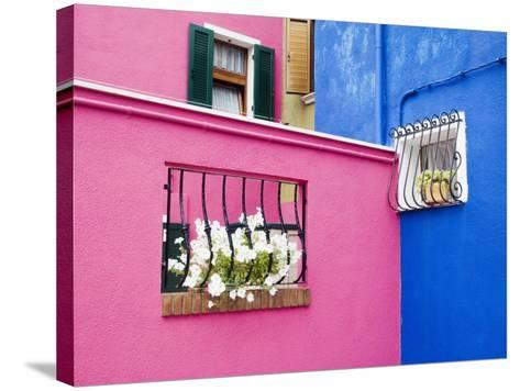 Colorful Burano City Homes, Italy-Terry Eggers-Stretched Canvas Print