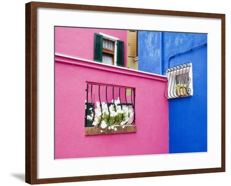 Colorful Burano City Homes, Italy-Terry Eggers-Framed Art Print
