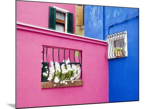 Colorful Burano City Homes, Italy-Terry Eggers-Mounted Photographic Print