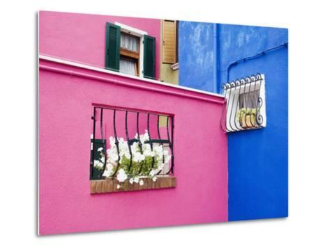 Colorful Burano City Homes, Italy-Terry Eggers-Metal Print