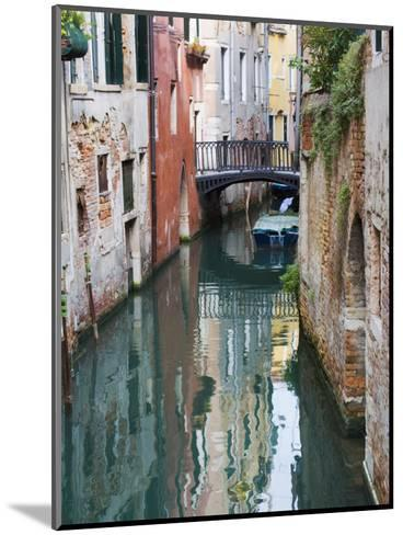 Reflections and Small Bridge of Canal of Venice, Italy-Terry Eggers-Mounted Photographic Print