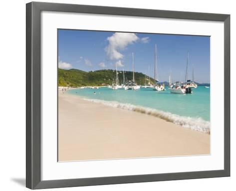 Popular Moorings For Bareboaters and Charter Sail, White Bay, Jost Van Dyke, Bvi-Trish Drury-Framed Art Print