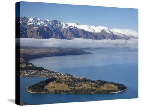 The Remarkables, Lake Wakatipu, and Queenstown, South Island, New Zealand-David Wall-Stretched Canvas Print
