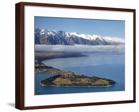 The Remarkables, Lake Wakatipu, and Queenstown, South Island, New Zealand-David Wall-Framed Art Print