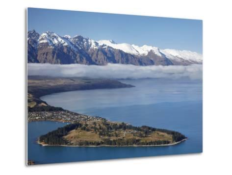 The Remarkables, Lake Wakatipu, and Queenstown, South Island, New Zealand-David Wall-Metal Print