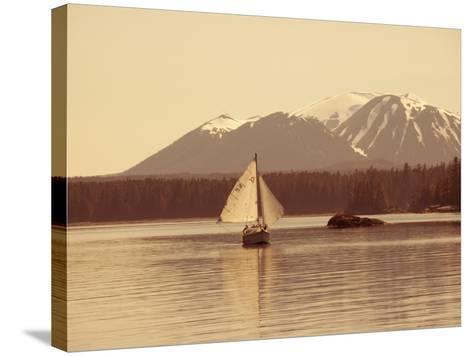 Mt. Edgecumbe, Sitka, Alaska, USA-Douglas Peebles-Stretched Canvas Print