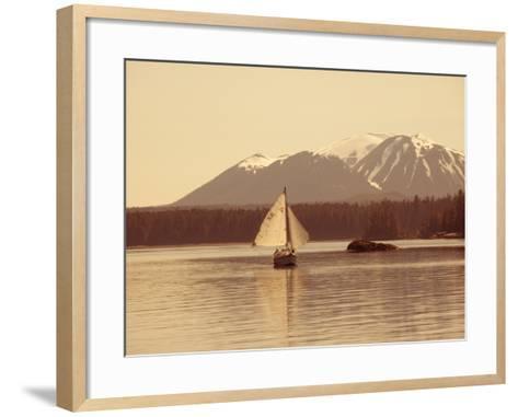 Mt. Edgecumbe, Sitka, Alaska, USA-Douglas Peebles-Framed Art Print