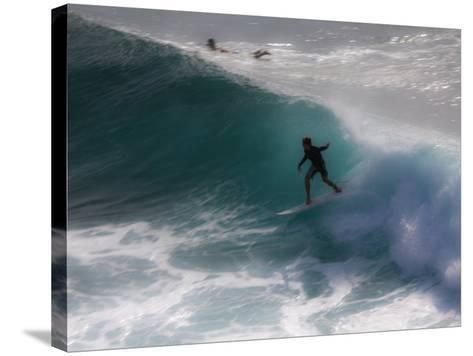 Surfing on Honolua Bay, Kapalua, Hawaii, USA-Douglas Peebles-Stretched Canvas Print