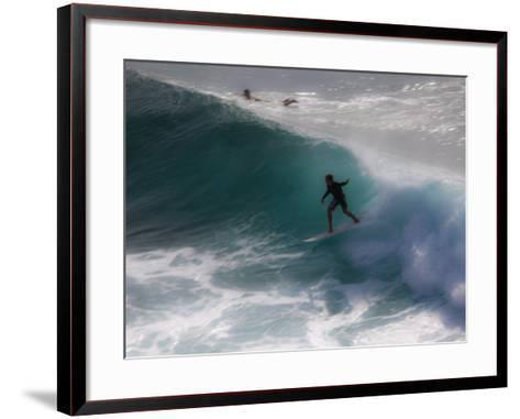 Surfing on Honolua Bay, Kapalua, Hawaii, USA-Douglas Peebles-Framed Art Print